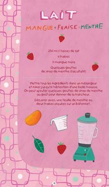 LAIT mangue-fraise-menthe