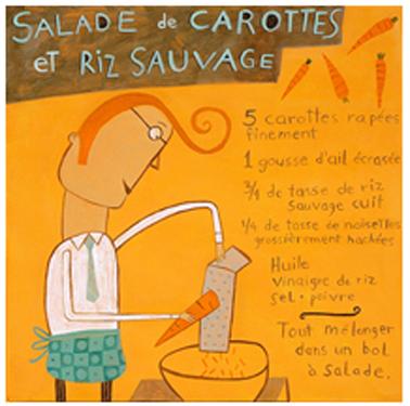 Salade de carotte et riz sauvage