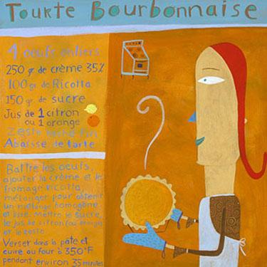 Tourte bourbonnaise